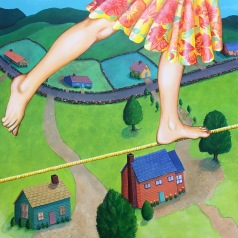 "Tight Rope 30""x30"""