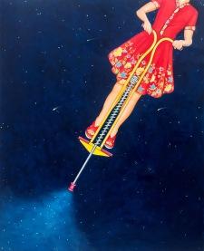 """Rocket Woman 52""""x42"""" - $7,500"""