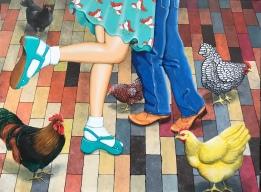 """The Chicken Dance 36""""x48"""" - $6,900"""