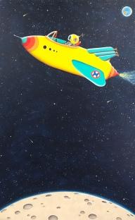 """Over the Moon"""" 48""""x 30"""" acrylic on canvas - $6,000"""